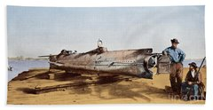 Confederate Submarine, Hunley Bath Towel