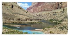 Confluence Of Colorado And Little Colorado Rivers Grand Canyon National Park Hand Towel