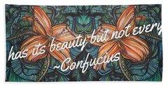 Confucius Beauty  Bath Towel