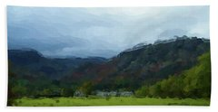 Coniston Watercolour Sketch Bath Towel