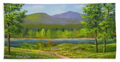 Connecticut River Spring Hand Towel by Frank Wilson