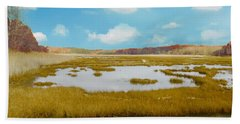 Connecticut Salt Water Marsh Bath Towel
