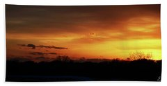 Connecticut Sunset Hand Towel by Gordon Mooneyhan