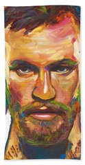 Hand Towel featuring the painting Conor Mcgregor by Robert Phelps