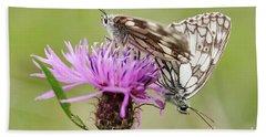Contact - Butterflies On The Bloom Bath Towel by Michal Boubin