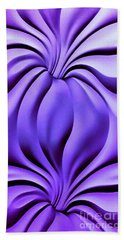 Contemplation In Purple Hand Towel