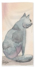 Bath Towel featuring the painting Contemplation by Terry Taylor