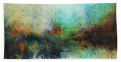 Contemporary Abstract Art Painting Bath Towel by Patricia Lintner