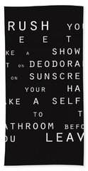 Contemporary Bathroom Rules - Subway Sign Bath Towel