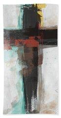 Contemporary Cross 1- Art By Linda Woods Bath Towel