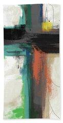 Contemporary Cross 2- Art By Linda Woods Hand Towel