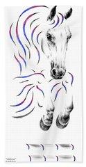 Contemporary Jumper Horse Hand Towel