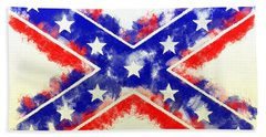 Hand Towel featuring the digital art Controversial Flag by Charlie Roman