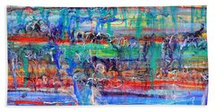 Convection Diffusion Bath Towel by Regina Valluzzi