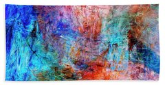 Hand Towel featuring the painting Convergence by Dominic Piperata
