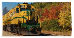 Bath Towel featuring the photograph Conway New Hampshire Scenic Railway by Brenda Jacobs