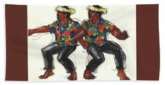 Cook Islands Ute Dancers Bath Towel