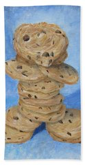 Bath Towel featuring the painting Cookie Monster by Nancy Nale