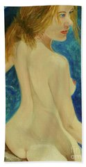 Bath Towel featuring the painting Cool by Paul McKey