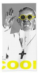 Bath Towel featuring the digital art Cool Pope  by Jean luc Comperat