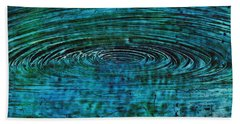 Bath Towel featuring the mixed media Cool Spin by Sami Tiainen