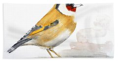 Hand Towel featuring the painting Cooling by Jasna Dragun