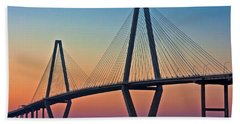 Cooper River Bridge Sunset Hand Towel by Suzanne Stout