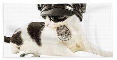 Cop Police Cat Bath Towel