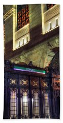 Hand Towel featuring the photograph Copley Square T Stop - Boston by Joann Vitali