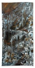 Hand Towel featuring the painting Copper And Mica by Joanne Smoley