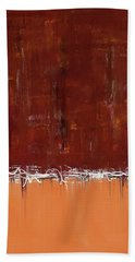 Copper Field Abstract Painting Hand Towel