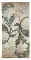 Copper Leaves Hand Towel