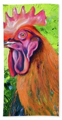 Copper Maran French Rooster Bath Towel