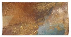 Copper Turquoise Abstract Hand Towel