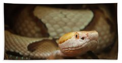 Hand Towel featuring the digital art Copperhead by Chris Flees