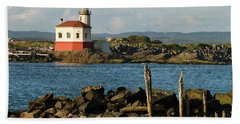 Coquille River Lighthouse Bandon Oregon Hand Towel