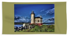 Bath Towel featuring the photograph Coquille River Lighthouse by Thom Zehrfeld