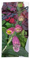 Coral Bells In The Garden Hand Towel