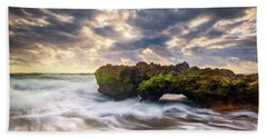 Coral Cove Jupiter Florida Seascape Beach Landscape Photography Bath Towel