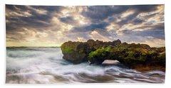 Coral Cove Jupiter Florida Seascape Beach Landscape Photography Bath Towel