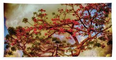 Coral Tree Hand Towel
