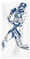 Corey Seager Los Angeles Dodgers Pixel Art 10 Hand Towel