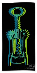 Hand Towel featuring the digital art Corkscrew by Jean luc Comperat