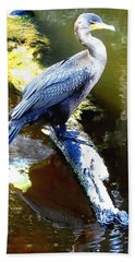 Hand Towel featuring the photograph Cormorant 001a  by Chris Mercer