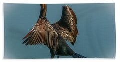 Cormorant Wings Bath Towel