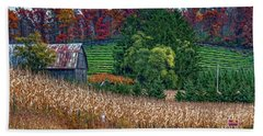 Corn And Ginseng On Poverty Hill Bath Towel by Trey Foerster