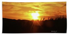 Corn Field Sunset Bath Towel