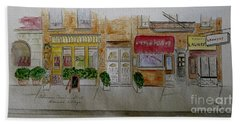 Cornelia Street In Greenwich Village Hand Towel by Afinelyne