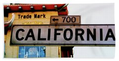 Corner Of California- Art By Linda Woods Hand Towel