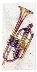 Cornet Abstract Watercolor Hand Towel
